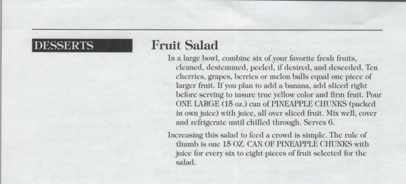 Dessert5 fruit salad