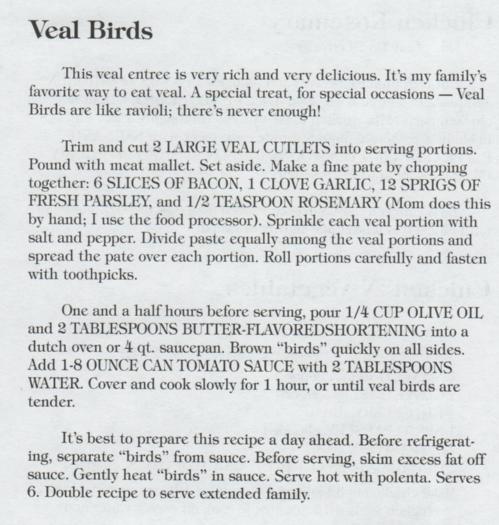 Veal Birds Updated