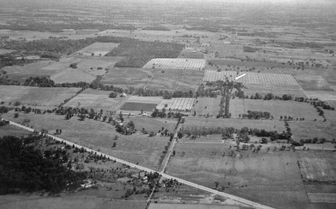 Oxmoor property of the Bullitt family looking south at Shelbyville Rd 1939