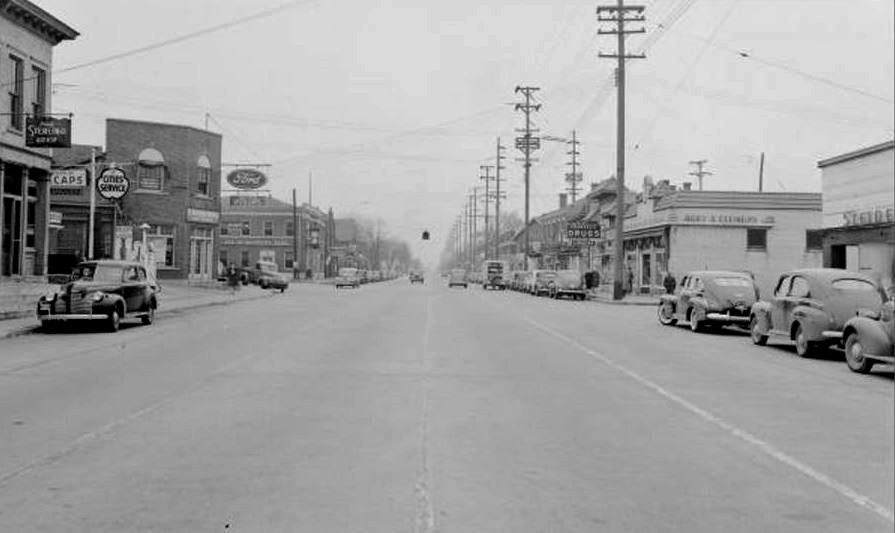 St Matthews, Shebyville Rd looking east 1942